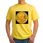Black-Gold Indian/Buffalo Yellow T-Shirt