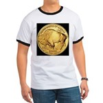Black-Gold Buffalo-Indian Ringer T