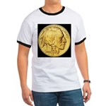 Black-Gold Indian/Buffalo Ringer T