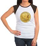 Wy-Gold Indian/Buffalo Women's CapSleeve TShirt