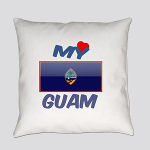 My Love Guam Everyday Pillow