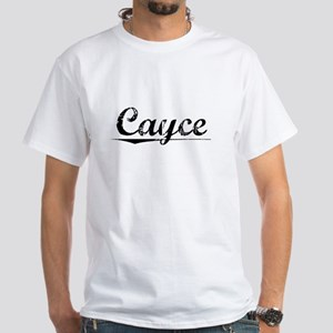 Cayce, Vintage White T-Shirt