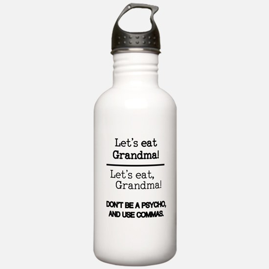 Let's eat Grandma! Water Bottle