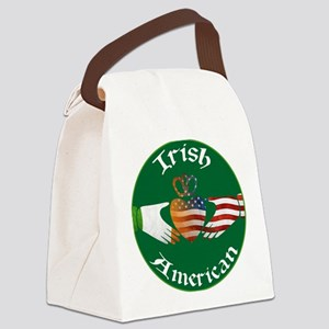 Irish American Claddagh Canvas Lunch Bag