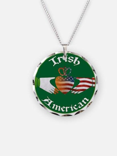 Irish American Claddagh Necklace Circle Charm