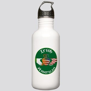 Irish American Claddagh Stainless Water Bottle 1.0