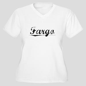 Fargo, Vintage Women's Plus Size V-Neck T-Shirt