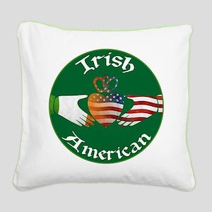 Irish American Claddagh Square Canvas Pillow