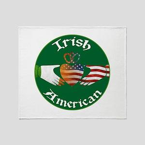 Irish American Claddagh Throw Blanket