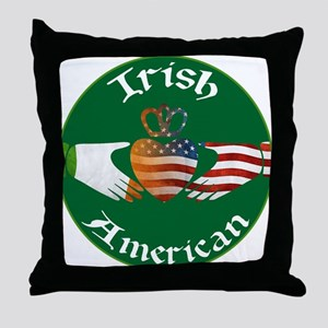 Irish American Claddagh Throw Pillow
