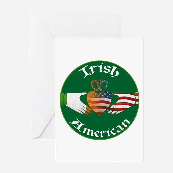 Irish American Claddagh Greeting Card
