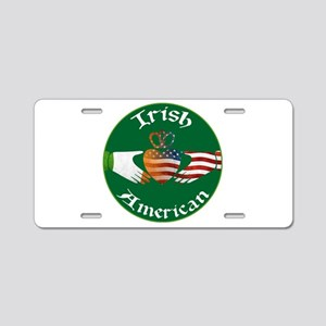 Irish American Claddagh Aluminum License Plate