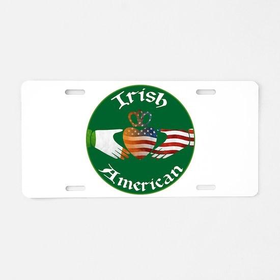 Irish American Claddagh Aluminum License Plate
