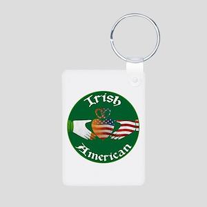 Irish American Claddagh Aluminum Photo Keychain