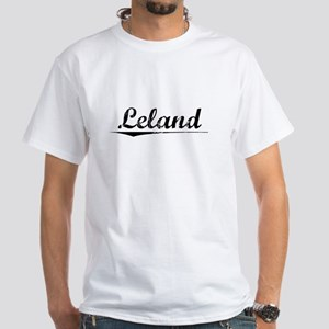 Leland, Vintage White T-Shirt