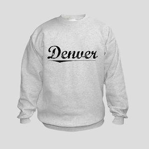 Denver, Vintage Kids Sweatshirt