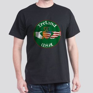 Ireland USA Connection Claddagh Dark T-Shirt