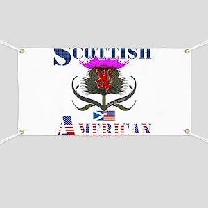 Scottish American Thistle Banner