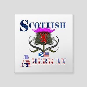 "Scottish American Thistle Square Sticker 3"" x 3"""