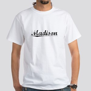 Madison, Vintage White T-Shirt