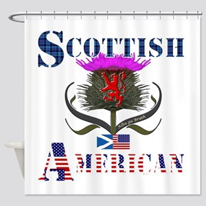 Scottish American Thistle Shower Curtain