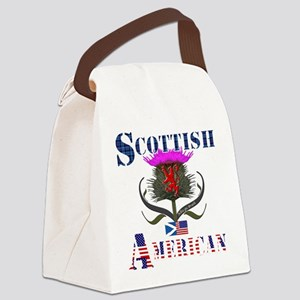 Scottish American Thistle Canvas Lunch Bag