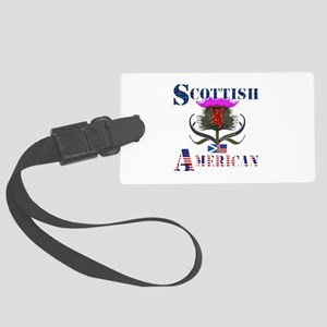 Scottish American Thistle Large Luggage Tag