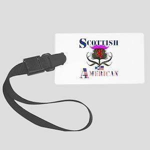 Scottish American Thistle Large Luggage Tag