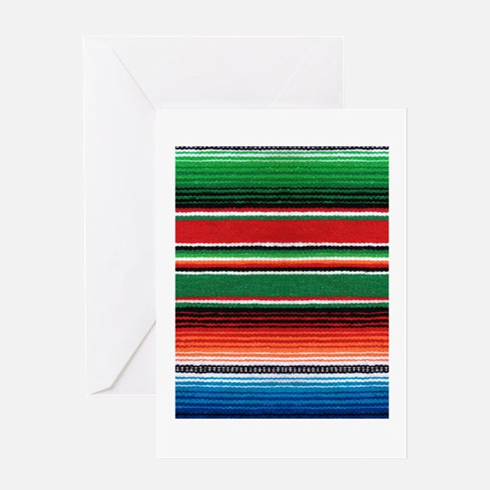 Mexican Sarape Design Greeting Card