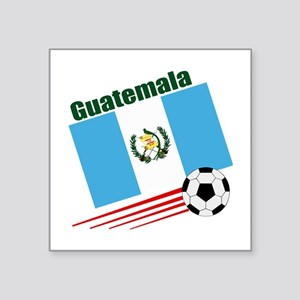 "Guatemala Soccer Team Square Sticker 3"" x 3"""