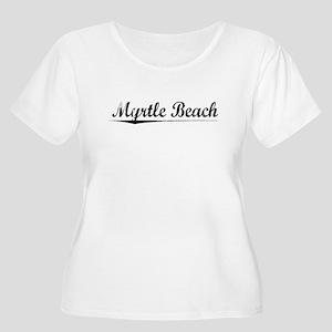 Myrtle Beach, Vintage Women's Plus Size Scoop Neck
