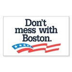 Dont Mess With Boston Sticker (Rectangle 50 pk)