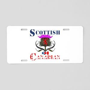 Scottish Canadian Thistle Aluminum License Plate