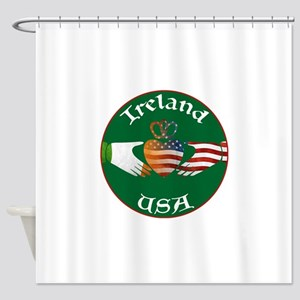 Ireland USA Connection Claddagh Shower Curtain