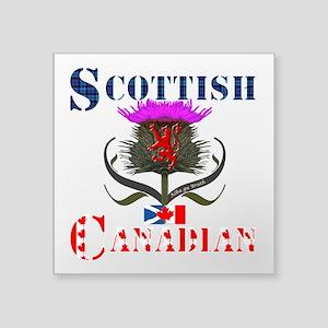 "Scottish Canadian Thistle Square Sticker 3"" x 3"""