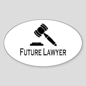 """Future Lawyer"" Oval Sticker"