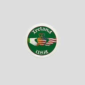 Ireland USA Connection Claddagh Mini Button