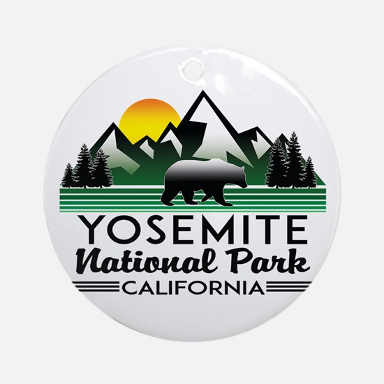 Yosemite National Park California B Round Ornament