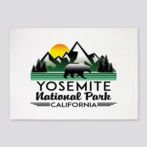 Yosemite National Park California B 5'x7'Area Rug