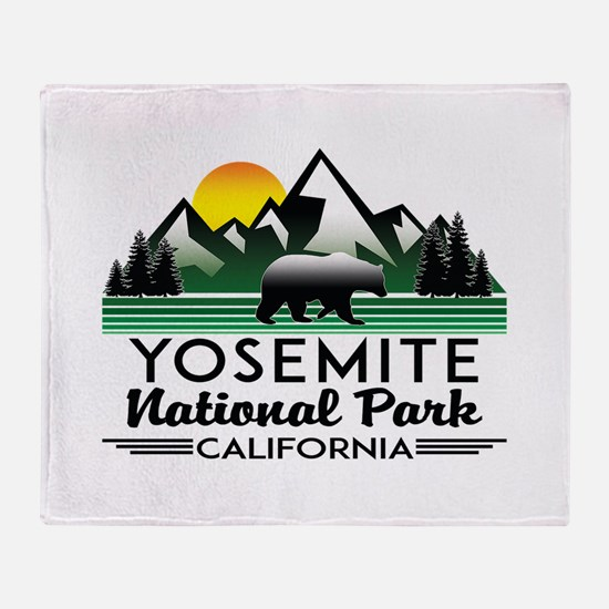 Yosemite National Park California Be Throw Blanket