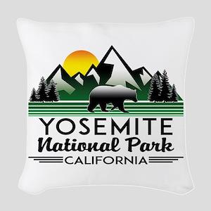 Yosemite National Park Califor Woven Throw Pillow