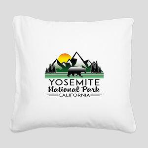 Yosemite National Park Califo Square Canvas Pillow