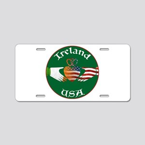 Ireland USA Connection Claddagh Aluminum License P