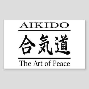 "art of Peace Sticker 3""x5"""