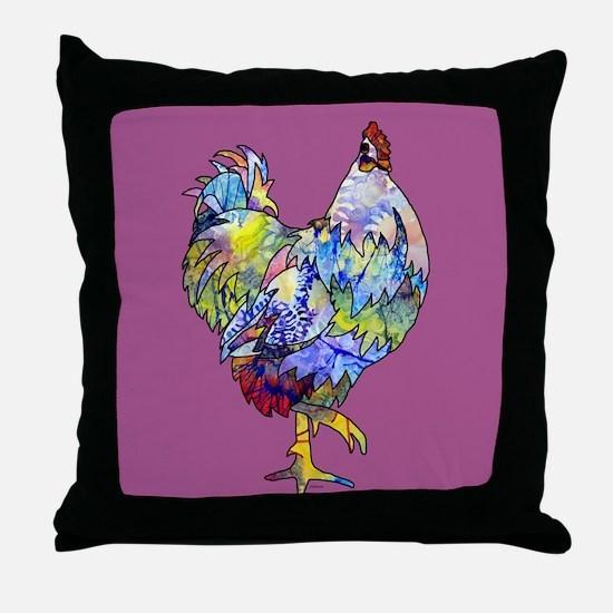 Wild Hen! Throw Pillow
