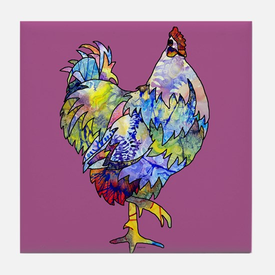 Wild Hen! Tile Coaster