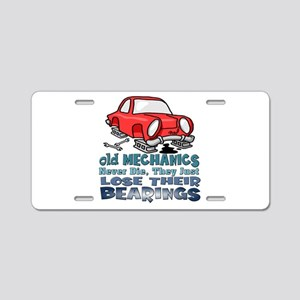 Mechanic Aluminum License Plate