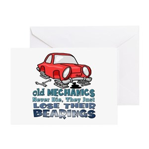 Mechanic Greeting Cards Cafepress