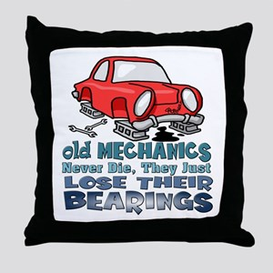 Mechanic Throw Pillow