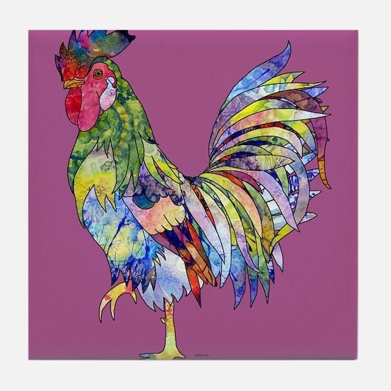 roosterpincopy.png Tile Coaster